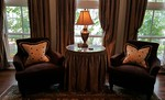 Pair sueded/velvet club chairs