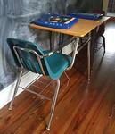 2 desks.  School at home!