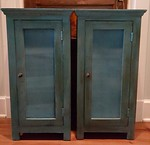"""Pair of Nadaeu side tables 16"""" x 16"""" x 31.5"""" H"""