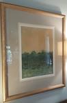 Signed/numbered framed print