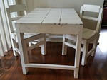 Sweet child's table and chairs