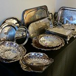 Tons of clean silverplate, perfect for your holiday entertaining pleasure.