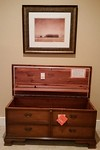 Super clean Lane cedar chest with lock and key and original hangtags.