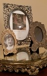 Old plateau mirror and modern mirrors