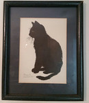 Pencil signed cat print by Charleston artist, Ravenel Gaillard, who is better known for his Okra/She-Crab prints.