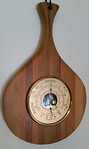 Barometer with exotic wood frame