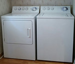 Super capacity washer and dryer