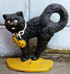 'Tis the season..Black cat doorstop.  Other Halloween decor is available.