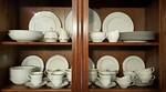 Great basic white china with platinum trim