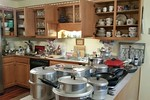 Great vintage kitchen items including hard to find Wearever pots and pans.