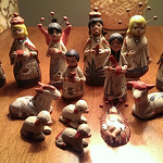 Mexican pottery manger scene