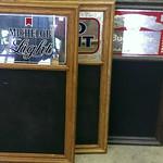 Beer advertising chalkboards