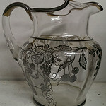 Sterling silver overlay pitcher