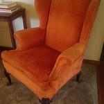 Flame orange wingback