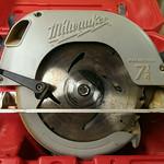 Clean Milwaukee circular saw