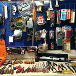 Lot of screwdrivers and hand tools
