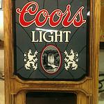 Working Coors Light clock sign