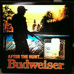 One of a pair of Budweiser backlit beer signs.  Both are in great shape!