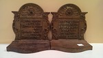 Early 1900's heavy cast iron or bronze bookends