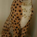 Large, life sized stuffed cheetah toy