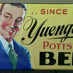 Vintage style Yuengling beer sign