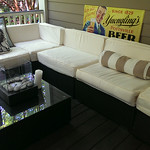 All-weather wicker outdoor set, very clean condition, 8 months old.