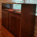 Matching Thomasville bar cart/server