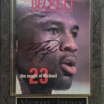 Signed MJ Beckett given to the owner by former NFL player/ Houston Oiler, Bo Orlando.