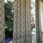 Set of 6 all-weather, full length drapery panels