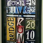 2010 hand signed framed Bridge Run poster