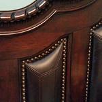 Leather inset headboard