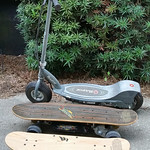 Electric Razor scooter and electric skateboards