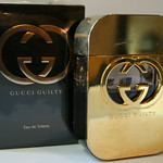 One of several bottles of Gucci Guilty perfume