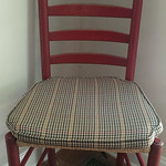 Super clean ladderback chair with perfect rush bottom seat