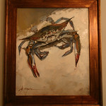 Original crab art.  We aren't positive these will be for sale.