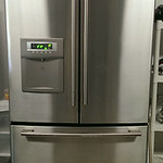 LG stainless steel French door refrigerator with brand new, never used water filter.  Excellent condition.