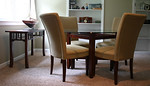 Super clean contemporary dining table and chairs