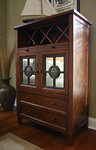 Uttermost brand decorator drinks cabinet w/built-in wine rack