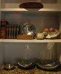 Old books, aluminum bowls