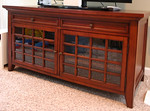 Great quality media cabinet that will hold a large TV