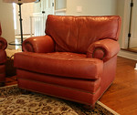 Leatherman chair and ottoman