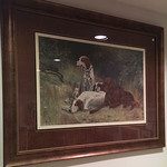 Large dog print in quality frame