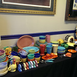 Fiestaware, some new and most older production