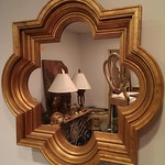 Solid wood designer mirror from our Direct Sale.  Come view this in person.  You will be impressed!