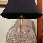 Sweet leaded crystal lamp, possibly Waterford and definitely great quality!