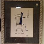 Pete the Cat original, professionally framed
