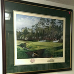 Large, nicely framed and matted golf print