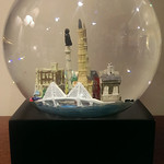 Charleston water globe music box.