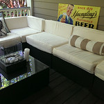 All Weather Sectional.  recently purchased and in clean condition.  Fabric unzips for easy care.