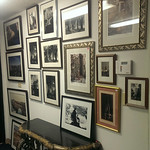 Wall of framed prints
